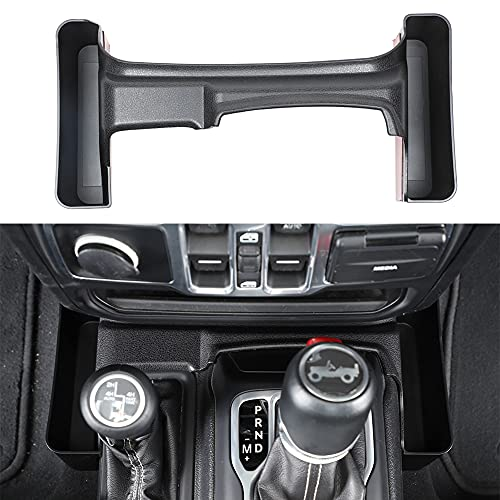 JUNLELI Black Console Gear Shift Storage Box Stowing Tidying for Jeep Wrangler JL Gladiator JT 2018...