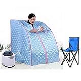 Tragbare Mobile Dampfsauna Personal Spa Body Heater Entgiften Abnehmen Gewicht Home Zimmer 98x70x80cm 1.8L (Blau)