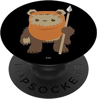 Star Wars Wicket Ewok Chibi Kawaii Cute PopSockets PopGrip - Support et Grip pour Smartphone/Tablette avec un Top Intercha...