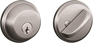Schlage B60N626 Deadbolt, Keyed 1 Side, Satin Chrome