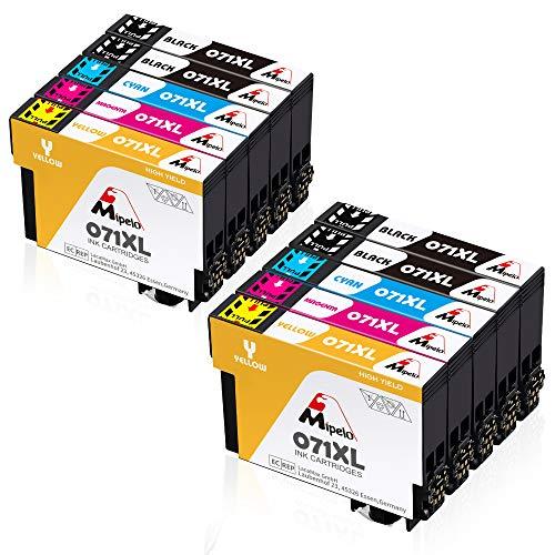 Mipelo Ersatz für T0715 Druckerpatronen T0711 T0712 T0713 T0714 Patronen Kompatibel für Stylus S20 Stylus Office BX300F BX610FW SX100 D92 SX400 SX200 DX4400 DX8400 SX210 (10er Pack)