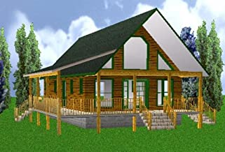 24x40 Country Classic 3 Bedroom 2 Bath Plans Package, Blueprints & Material List