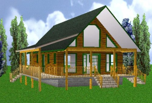 Easy Cabin Designs 24x40 Country Classic 3 Bedroom 2 Bath Plans Package, Blueprints & Material List