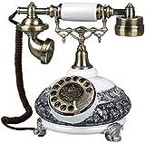 TAIDENG Teléfono Antiguo Teléfono Estilo Europeo Estilo Europeo, [Zonas Rurales], Teléfono por Cable, Estilo Americano, Decoración -A Adornos de decoración de Escritorio para el hogar