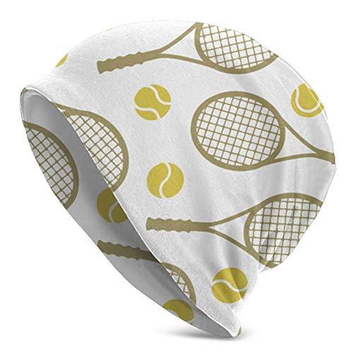 QUEMIN Raquetas de Tenis Pelotas Cool Beanie Hat Gorras Invierno Knit Soft Sombreros para Mujeres Hombres