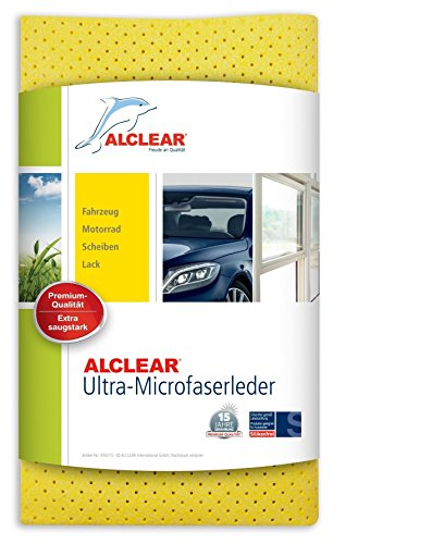 ALCLEAR 950015 Mikrofaser Ledertuch, 40 x 45 cm, Gelb