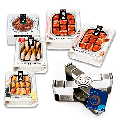 缶つま プレミアム 惣菜 缶詰 洋風 5缶 詰め合わせ 肉 魚 おつまみ 缶詰め ウォーマー セット ふりかけ