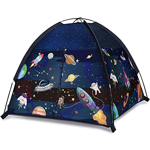 SOKOyuien Play Tent for Kids, Space World Tent, Universe Tent Indoor Outdoor Playhouse Tent for Boys Girls, Imaginative Gift for Toddlers & Children 2 3 4 Years Old and Up