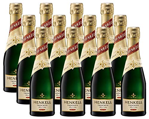 Henkell Feiner Sekt, Trocken, 11,50{03c5f5a2279722e88c0058b8cf0e7f606a432238c9d3441cb6d2732fcab68695} Alkohol (12 x 0,2l Flaschen) – Chardonnay-Cuvée in handlicher Piccoloflasche