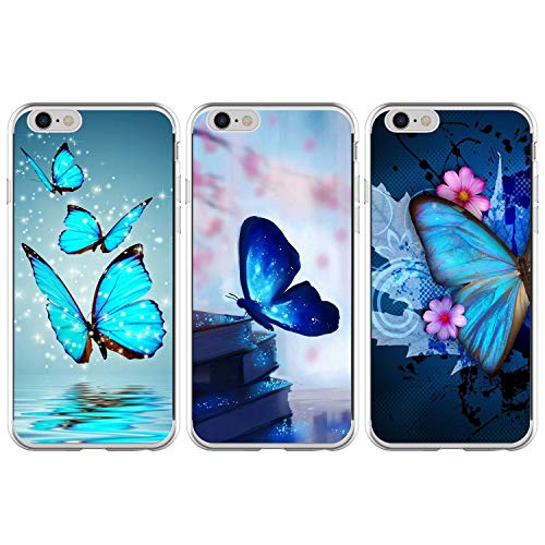 3-Pack MOTIKO iPhone 6S Plus Case,iPhone 6 Plus Case 3 Pcs Shockproof Ultra Thin Soft TPU Silicone Gel Phone Cases Slim Fit Flexible Covers Pack of 3 for iPhone 6S Plus //6 Plus Group-4
