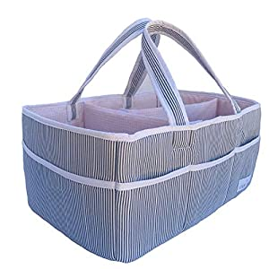 Baby Diaper Caddy Organizer – Nursery Storage Basket Bin Baby Item Blush, Large