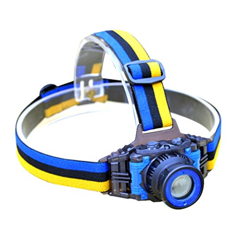 YURROAD CREE Q5 LED Stirnlampe Kinder Aufladbar Kopflampe 3 Modus (Eingebauter Akku, USB-Ladekabel enthalten)