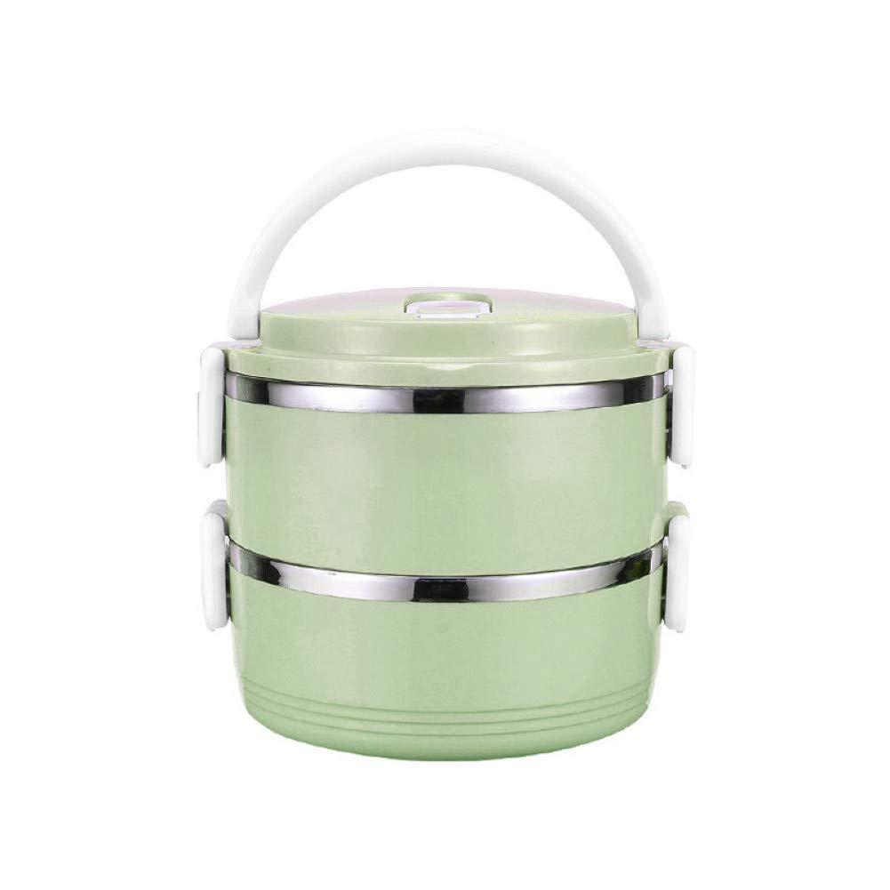 YXF Bento Box de plástico Bento Box térmica Caja de Almuerzo del envase de alimento de la Cocina de cálido, Azul Claro (Color : Blue, Size : 2): Amazon.es: Hogar