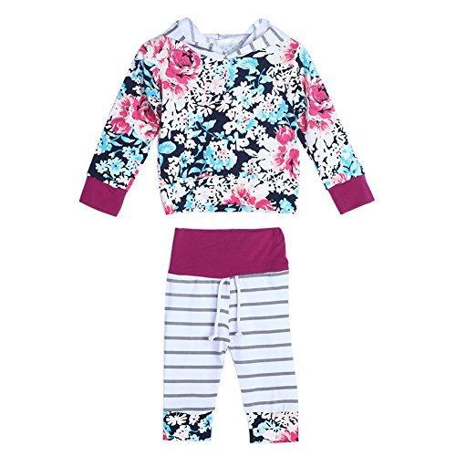 Diamondo – Conjunto de 2 peças de roupas com capuz para bebês e meninas com manga comprida (9 – 12 meses)