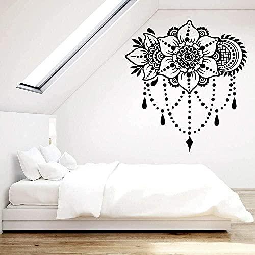 wwhhh pegatina de pared pegatina de vinilo para pared ramo de flores patrón de decoración pegatina de pared interior decoración del hogar sala de estar 45X42Cm