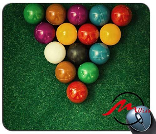 ZMvise Billiards Balls Cloth Modisches Cartoon-Mauspad Matte Fashion Muster Custom Rechteck Gaming Mauspad