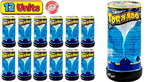 Tornado Maker Toy (Pack of 12) by Ja-Ru | Make Your Own Tornado Toy Game. Great Party Favor Toys. Party Supplies. Twister for Kids and Adults. Plus 1 Bouncy Ball. 5462-12p