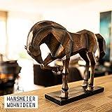 Hansmeier Deko Statue Pferd – edle Wohnungs-Deko – 47 x 35 x 13 cm – Design-Dekoration Pferd - 6