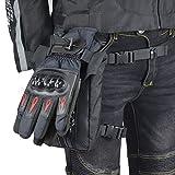 dizi248 Oxford Motorrad Beintasche Stoff Wasserdicht Drop Leg Taille Pack für Motorrad Radfahren...