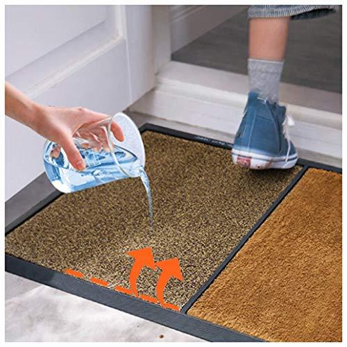 GHJL Sohlen Desinfizieren Fußmatte Polster Waschbare Matte Desinfektions Bodenmatte Nass- Und Trockeneingang Desinfektion Smatte Desinfektion Stürmatte 80 * 45 * 2 cm (Color : Orange+Brown)