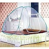 FSD-MJ Nouvelle Arrivée Pop Up Camping Tente Lit Canopy Moustiquaire Pleine Reine King Size Filet Literie Yourte Mongole Moustiquaire (180x200 )