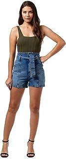 Short Jeans Comfort Com Faixa, Colcci, Feminino