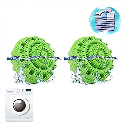 Washing Ball,Eco Magic Laundry Ball,Friendly All Natural Detergent Alternative,Washing Machine Lint Catcher Lint Removers (2PCS)