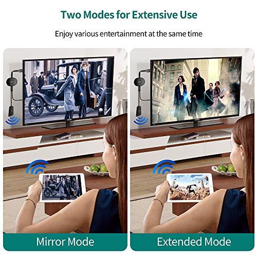 Wireless HDMI Dongle 4K, Adaptador de pantalla HDMI inalámbrico MPIO, streaming para iPhone/iPad/Android/iOS/Windows/Mac Laptop, Tablet, PC a TV/monitor/proyector, compatible con Airplay/Miracast/DLNA miniatura