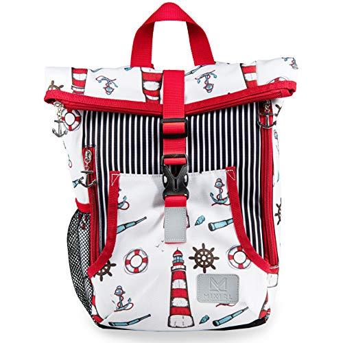MIXIRL® Kindergartenrucksack für Jungen & Mädchen | 1-3 Jahre | hochwertiger Kinderrucksack mit Brustgurt für einen gesunden ideal für Wanderungen, Kita & Kindergarten