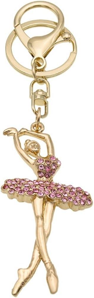 Max 80% OFF Fashion Metal Crystal Challenge the lowest price of Japan ☆ Rhinestone Dancing Handbag Keyring B Angel