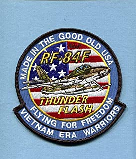 Embroidered Patch-Patches for Women Man- Republic RF-84F F-84 THUNDERFLASH