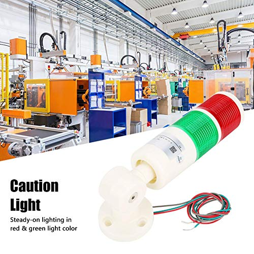 Industrial Signal Light Tower,Foldable LED Indicator Warning Light,Caution Signal Constant Light,for Outdoor,Engineering Construction, Bridge Crane