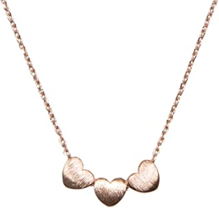 SPUNKYsoul Handmade ♥ ♥ ♥ 3 Heart Necklace for Women Gold, Silver or Rose Gold Collection
