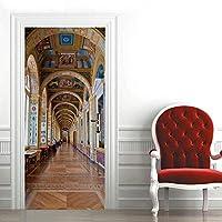 ドアステッカープロムナードPvc自己粘着壁紙Diy家の装飾シミュレーションポスターウォールステッカー95X215Cm