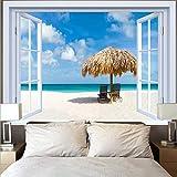 Playa tapiz de árbol de coco hippie colgante de pared océano puesta de sol tapiz decoración del hogar tela de fondo tela colgante A3 180x200cm