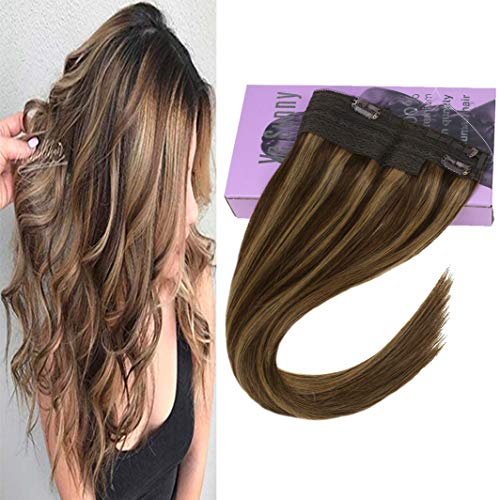 VeSunny 12inch Remy Halo Wire Hair Extensions