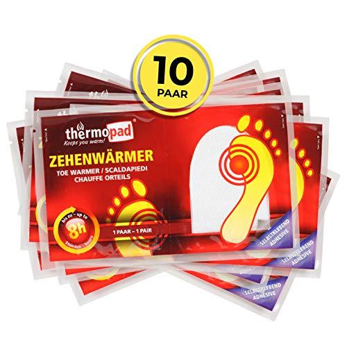 Thermopad Unisex– Erwachsene Zehenwärmer, weiß, one Size