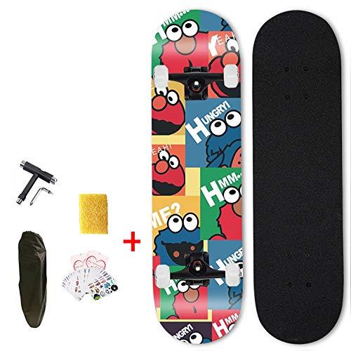 Hignful Skateboards, Original Vintage Retro Cruiser Skateboard Für Kinder Und Erwachsene Auch Anfänger Ab Ca. 6-10 Jahre | 79X19cm Kinderskateboard Retroboard (Graffiti-Kunst) (a)