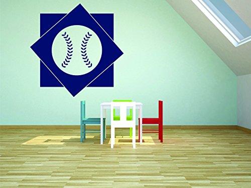 Design with Vinyl RAD 890 2 Baseball Design Boys Bedroom Baby Teen Wall Decal, Blue, 16 x 24\