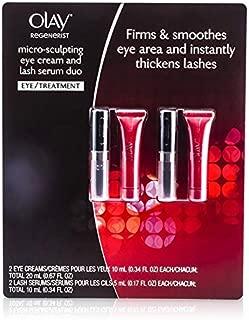 Olay Regenerist Micro-Sculpting Eye Care Set: 2x Eye Cream 10ml/0.34oz + 2x Lash Serum 5ml/0.17oz 4pcs