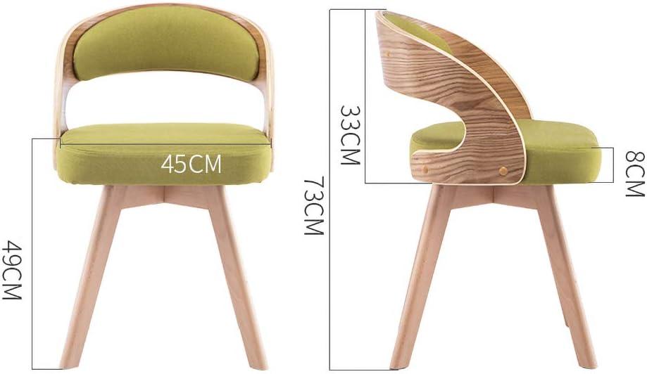 MXXYZ Fauteuil de Loisir Table et Chaise rétro en Tissu en Bois pour Salle à Manger G