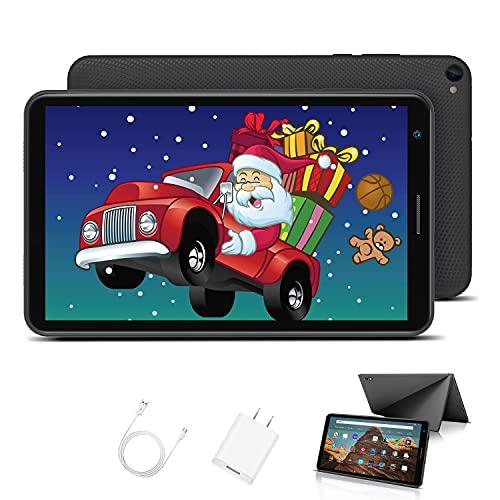 Tablet para Niños con WiFi 8.0 Pulgadas 3GB RAM 32GB/128GB ROM Android 10.0 Pie Certificado por Google GMS 1.6Ghz Tablet Infantil Quad Core Batería 5000mAh Tablet PC Netflix Juegos Educativos(Negro)