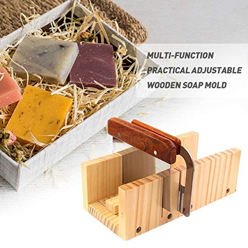 SNIIA In hoogte verstelbaar houten zeep Laib Cutter vorm box silicone toast geval rechthoekig met roestvrij stalen lemmet, DIY schaafmes snijden schaaf tools
