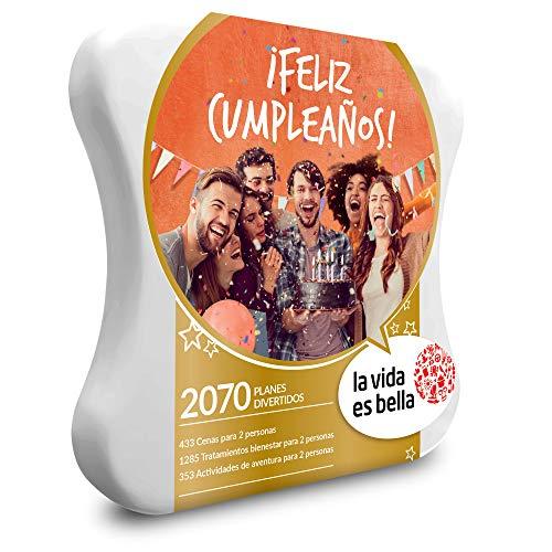 LA VIDA ES BELLA - Caja Regalo - LVB-  ¡FELIZ CUMPLEAÑOS! - 2070 planes divertidos de bienestar, gastronomía o aventura