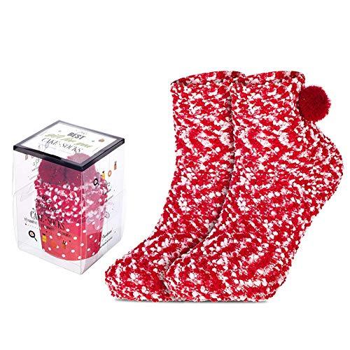 calcetín navideño,calcetines mujer invierno,térmicos Adulto Calcetines,calcetines mujer invierno termicos,Térmicos de Invierno Calcetines de,Calcetines Invierno Calientes,Invierno regalos (rojo)