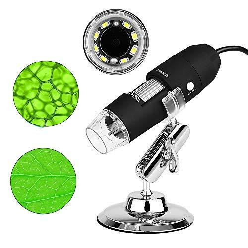 USB Mikroskop für Kinder 3 in 1 Digital Microscope, 1000 x Vergrößerung Magnification, mit 8-LEDs HD 1080P für PC Computer Windows Android Handys