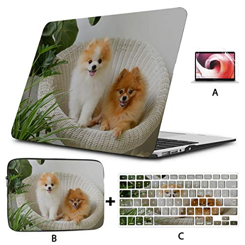 Macbook Pro 2017 Accessories Cute And Playful Pomeranian Macbook Cover 15 Inch Hard Shell Mac Air 11'/13' Pro 13'/15'/16' With Notebook Sleeve Bag For Macbook 2008-2020 Version