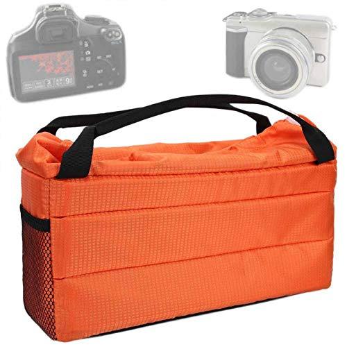 DAUERHAFT Kameraeinsatz Tasche Stoßfest, für Fotokamera(Orange)