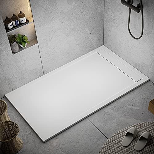 Receveur de douche 80 x 130 modèle Tamise - Texture Lisse et antidérapante - Finition mat - Toutes les tailles sont disponibles...