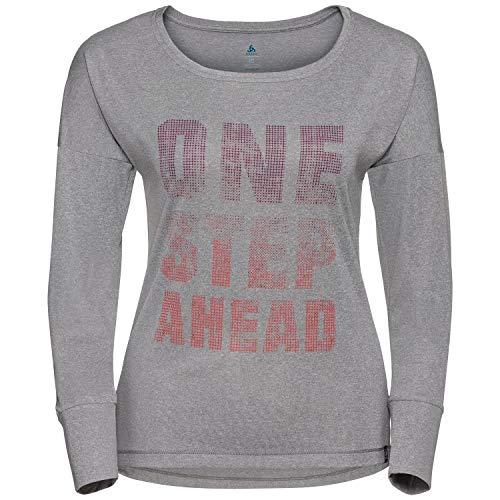 Odlo ml Helle T-shirt Manches Longues Femme, Mint Leaf Mélange, FR : S (Taille Fabricant : S)